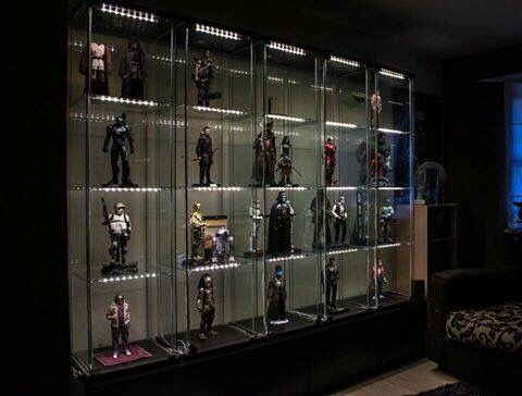 1000 images about collectible displays on pinterest for Hot toys display case ikea