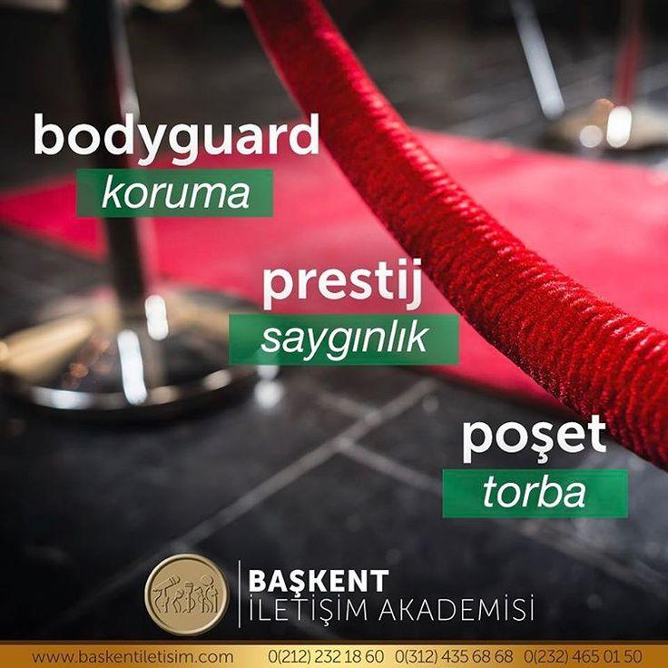 bodyguard = koruma. prestij = saygınlık. poşet = torba.  (Kaynak: Instagram - baskentiletisim)  #türkçe #türkçedili #bilgi #kelime #kelimeler #anlam #özet #kökeni #güzel #güzelkelimeler #bazıkelimelerçokgüzel #lügat #doğrutürkçe #türkçesivar