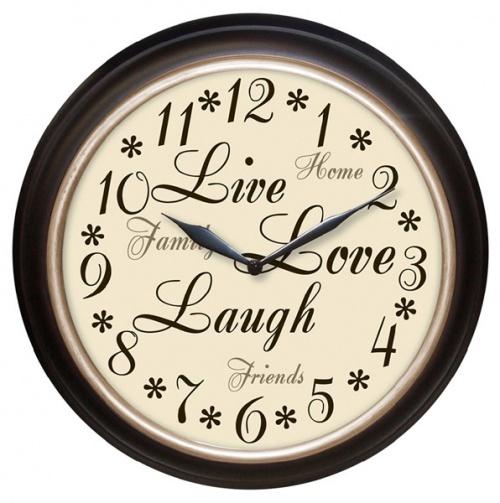 Live Love Laugh Wall Clock.