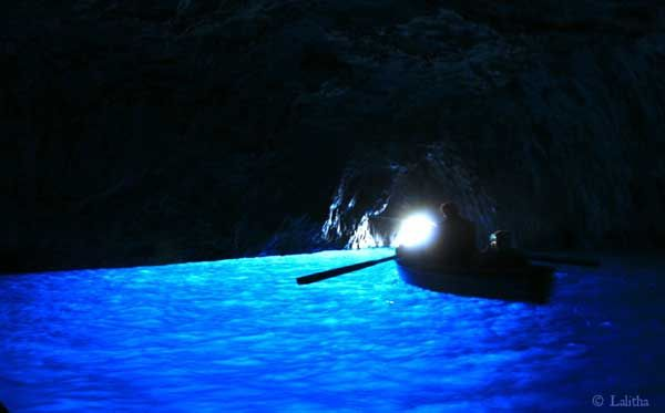 The Bewildering Blue Grotto of Capri Island by Lalitha Priyadharshini
