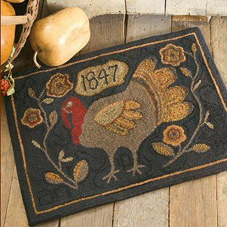 1008 Best Primitive Hooked Rugs Images On Pinterest