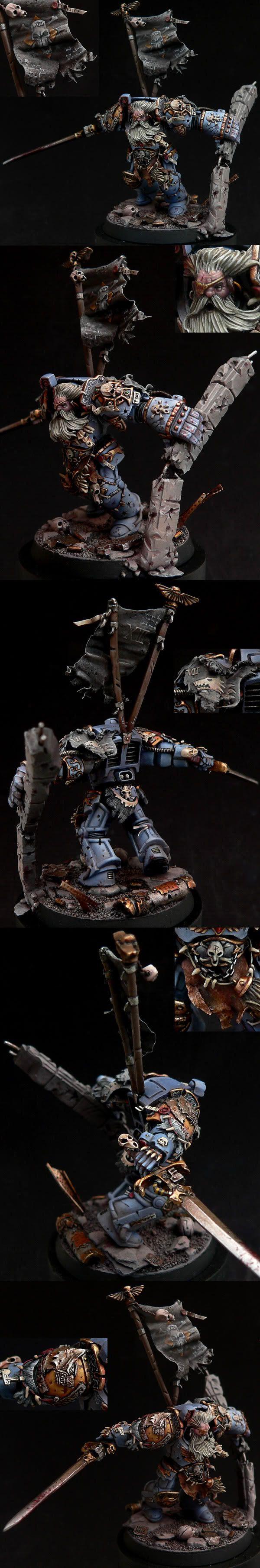 Marine Lobo Espacial, con armadura exterminador.