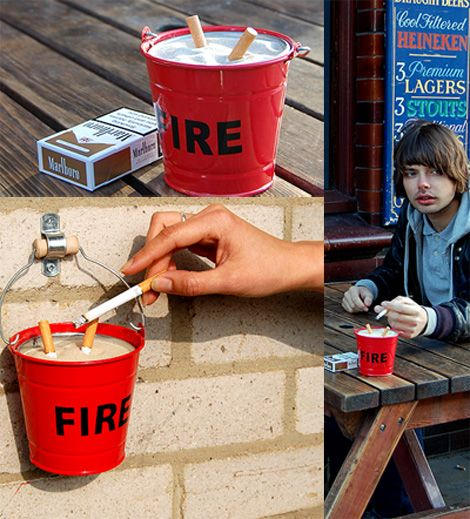 Can DIY ashtrayBetter Fonts, Minis Fire, Earth Tone, Ashtray 7 50, Fire Buckets, Diy Ashtray, Cinzeiro, Buckets Ashtray, Ash Trays