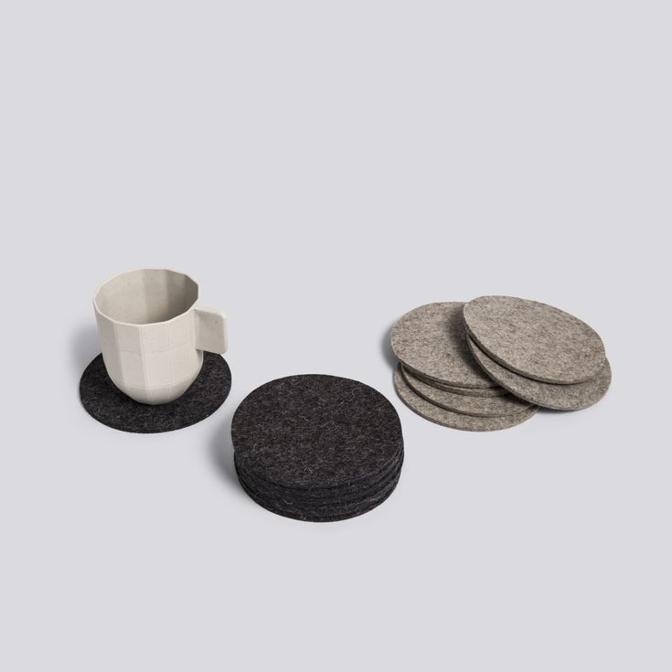 Coaster and Paper Porcelain coffee cup.