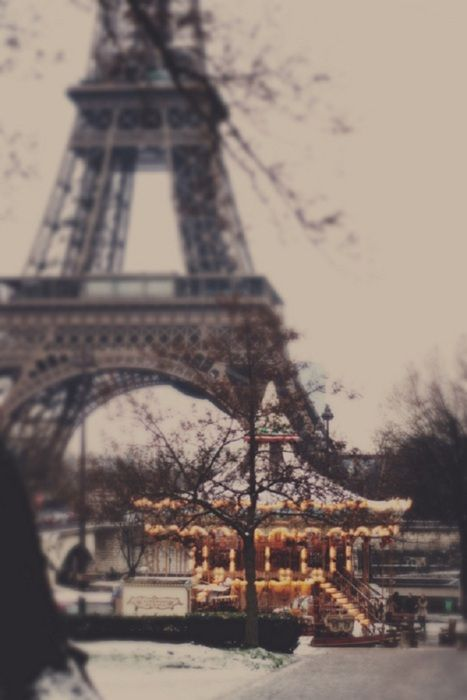 Carousel and the Eiffel Tower