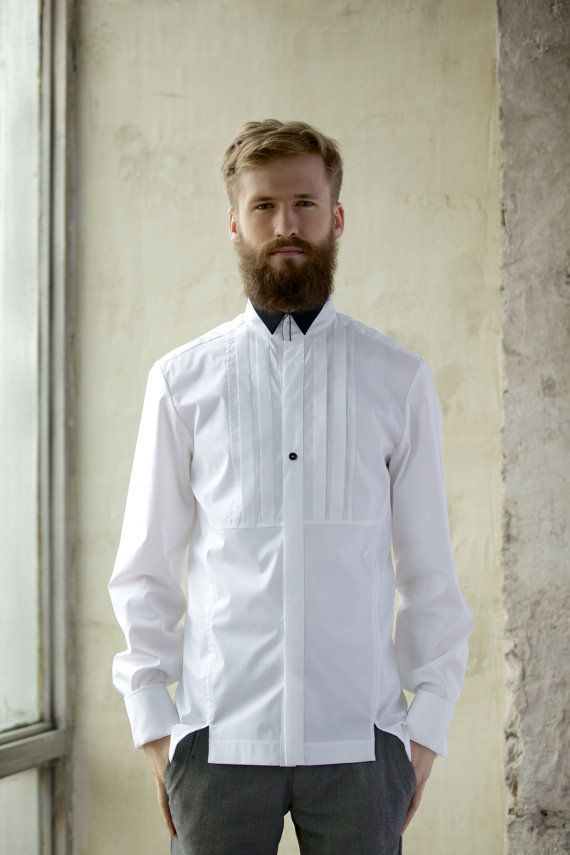 Long sleeve shirt in white colour I'M a dandy for by imyourshirt, $143.00