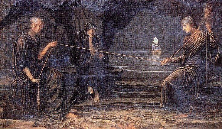 Le tre Moire e il filo della vita