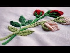 Hand Embroidery Flowers | cómo bordar flores (paso a paso) | by Diy Stitching - 14 - YouTube