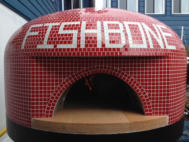 Napoli with custom tile from Outdoor Pizza Ovens in Canada