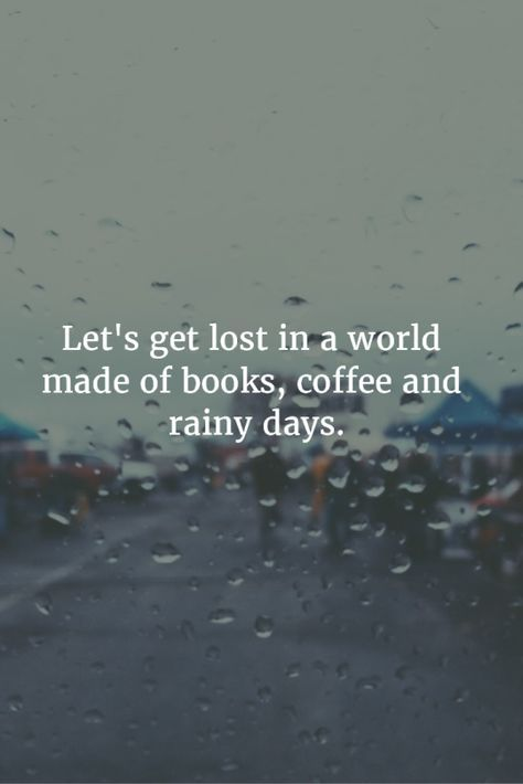 This is so ME! I love rainy days for this reason!