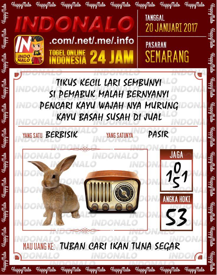 Nomer Hoki 4D Togel Wap Online Live Draw 4D Indonalo Semarang 20 Januari 2017