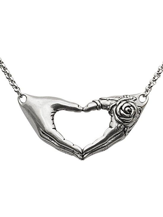 Friendship Rose Necklace by Controse (Silver) #InkedShop #jewelry #flower #floral #necklace #style #gift #bestseller