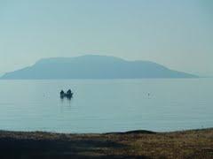 Kelyfos island viewed from Lagomandra beach