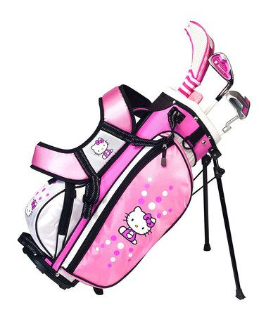 What Daddy would LOVE to buy for his little girl. Hello Kitty Ages 6 to 8 Junior Golf Set by Hello Kitty #zulilyfinds
