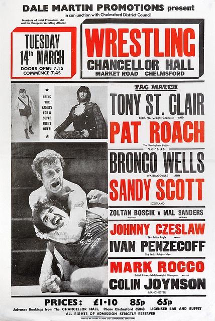 wrestling poster, chelmsford by maraid, via Flickr