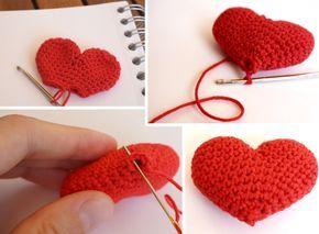 Petite Maille | Le crochet c'est pas ringard !: Coeur au crochet