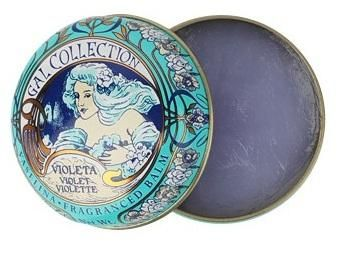 Vaselina Perfumada Violet Lip Balm - I'm a sucker for pretty, reusable packaging (at http://www.smallflower.com/search/vaselina)