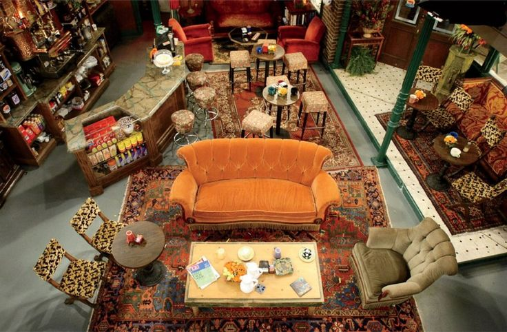 """The """"Central Perk"""" ~  Photos: On Set with Friends Back in the Mid-1990s 