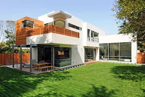 Contemporary A twostory modern style house with no foundation