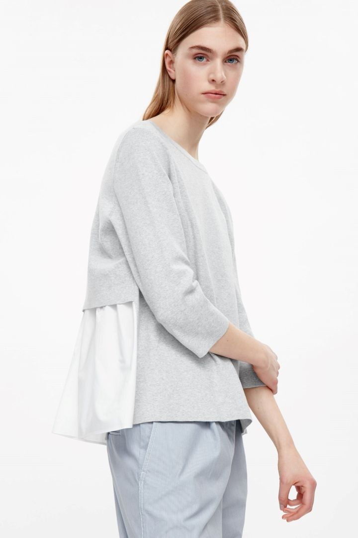 COS image 7 of Top with layered back in Grey Light