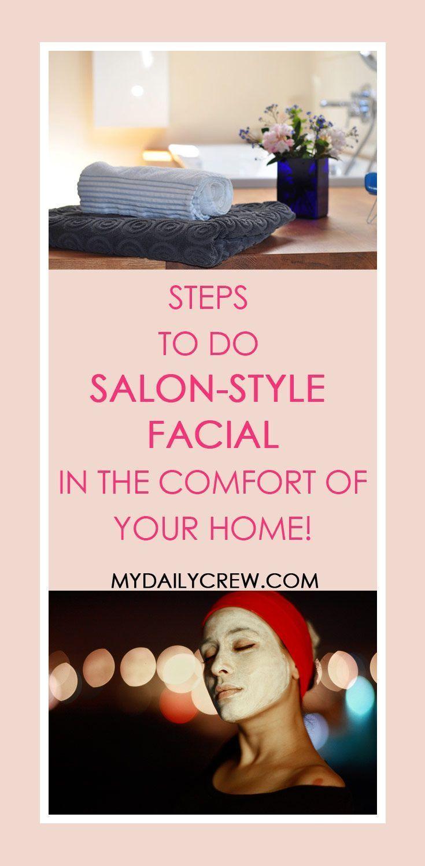 How to do a salon style facial at home – #Facial #Home #salon #style – #Facial #…