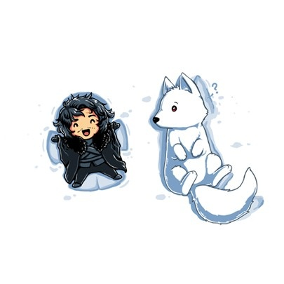 Best part of S4, Jon and Ghost together again! #gameofthrones