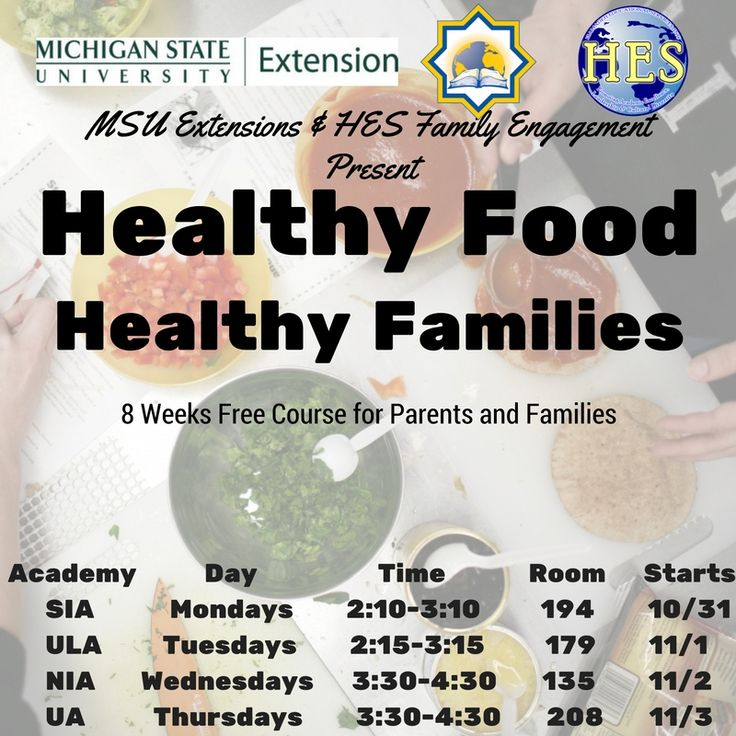 UA Healthy Food Healthy Families Course for Parents Starts 11/3/2016 .. Register Today For Free!