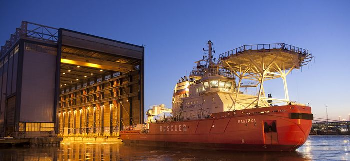 Arctic shipbuilding technology.