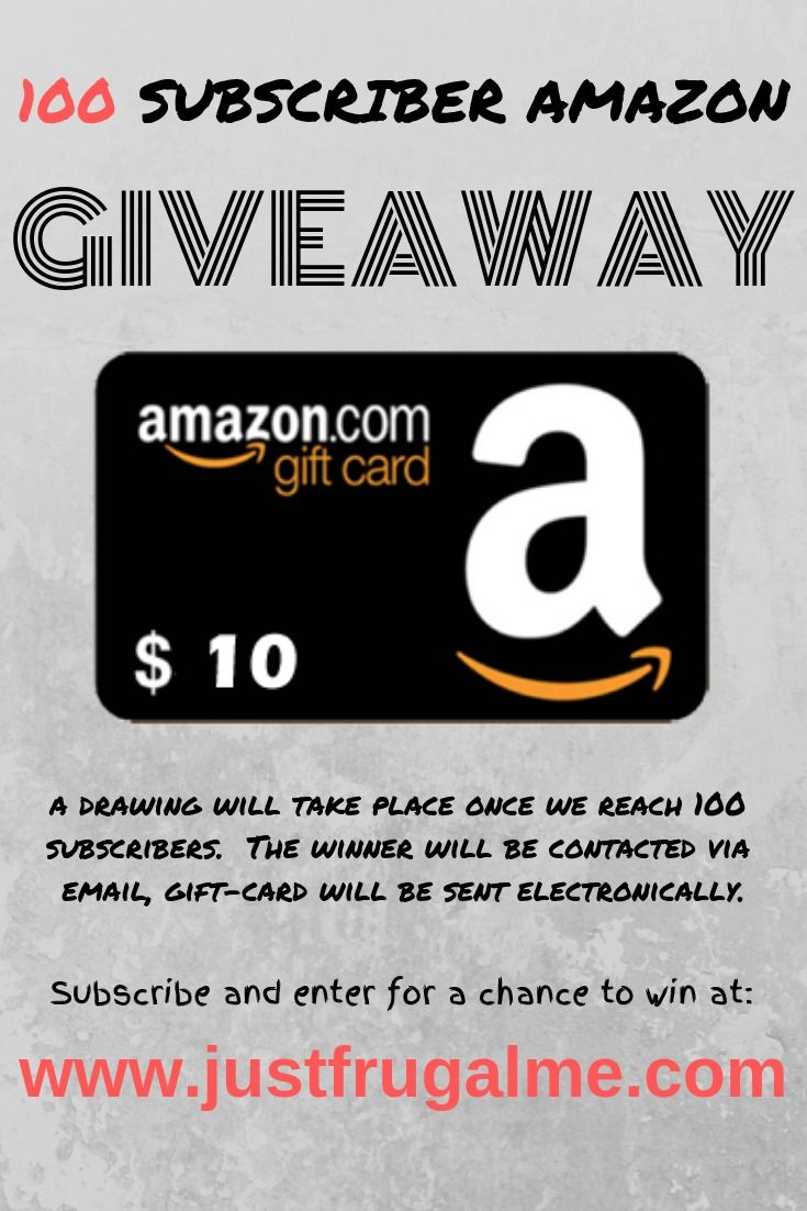 To Subscribe And Enter For A Chance To Win An Amazon Gift Card Please Visit And Subscribe At Www Justfrugalme Com Am Amazon Gift Cards Gift Card Amazon Gifts