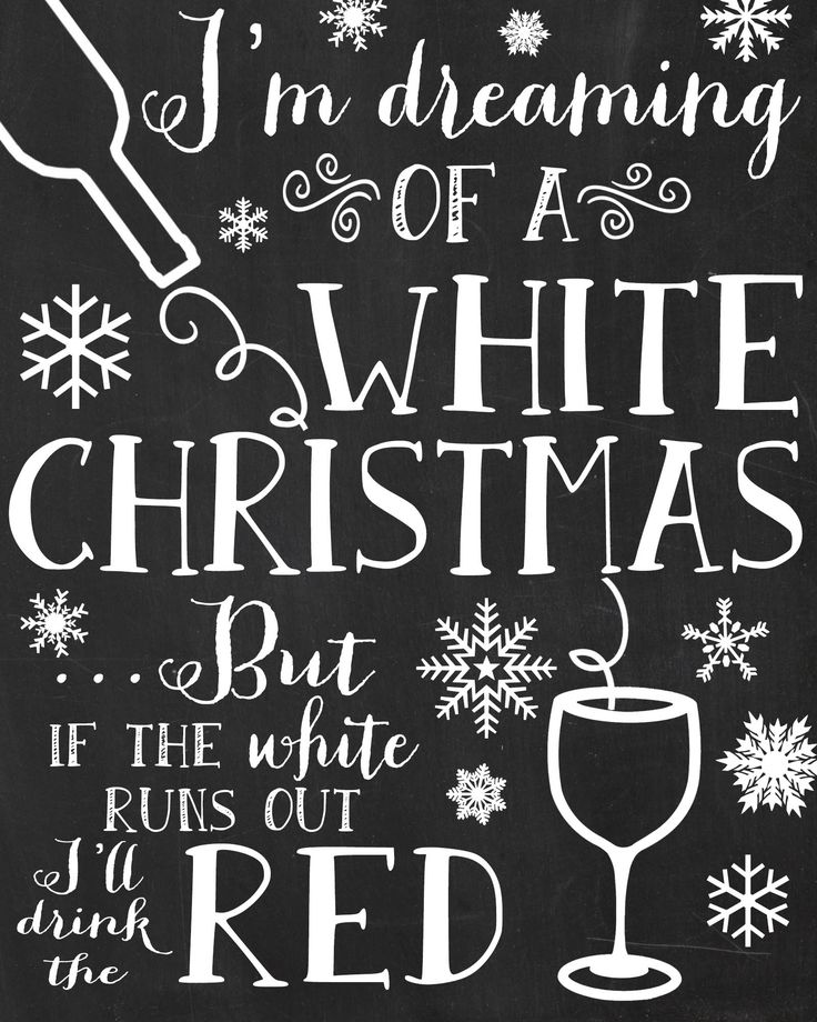 I M Dreaming Of A White Christmas Funny Chalkboard