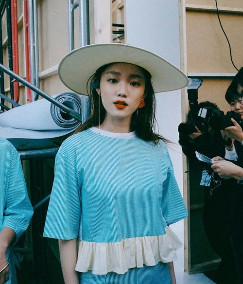 korean actress, korean model, and lee sung kyung image