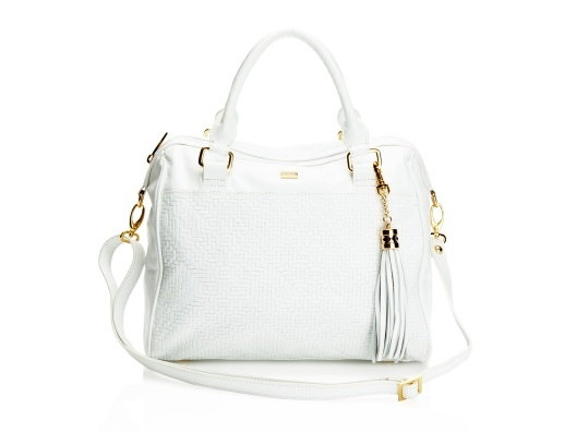 I love white purses.