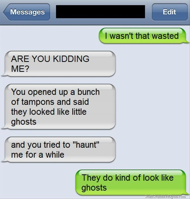 Funny Meme Texts : Funny picture messages drunk meme tampon ghost