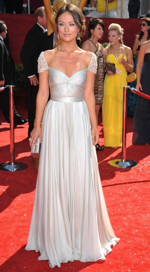 Olivia Wilde in Reem Acra at the 2008 Emmy Awards