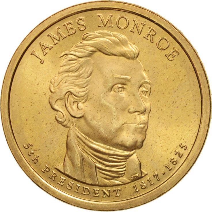 United States, Dollar, James Monroe, 2008, Philadelphia, MS(63), KM:426