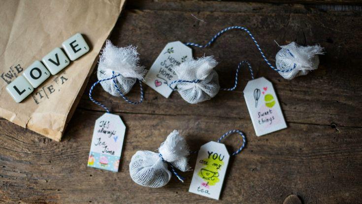 tea bags homemade tags
