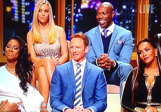 Kenya Moore, Kate Gosselin, Ian Ziering, Terrell Owens and Vivica A. Fox at the live Apprentice finale