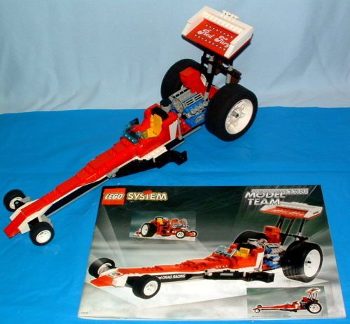 Lego 5533 Model Team dragster and Tractor Pulling-of-1999 racing car