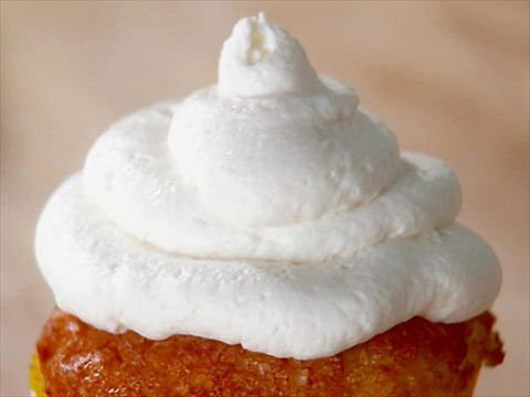 Lemon angel food cupcakes with lemon curd filling and mascarpone frosting. Make cupcakes from scratch, so stupid you use egg yolks in the curd and then don't put the whites to good use for the angel food cake!