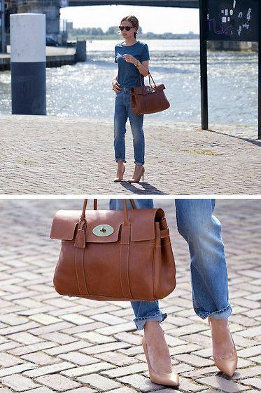 Karen Walker Sunglasses, Mulberry Bayswater Bag, Acne Studios Jeans, Zara Shoes