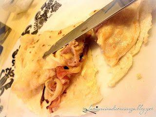 Crèpe salata con pancetta e cipolla