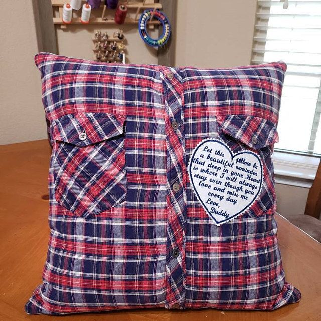 MEMORY PILLOW SHIRT Patch, 5 x 5 In