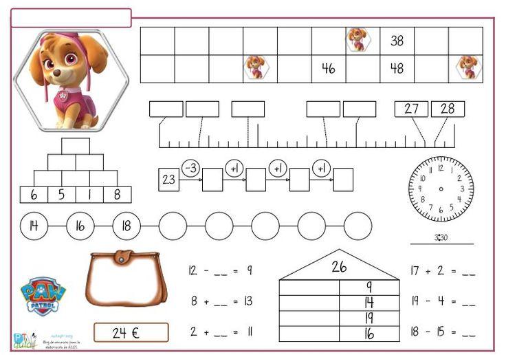 Desde hace algún tiempo vengo compartiéndoos los modelos que voy preparando, semanalmente, para trabajar y reforzar la numeración y el cálculo inicial suma y resta.
