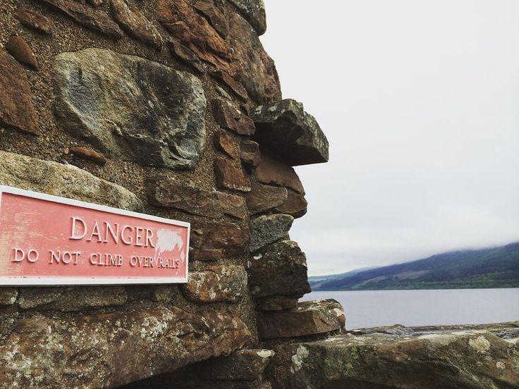 Urquhart Castle in Inverness, Scotland, UK