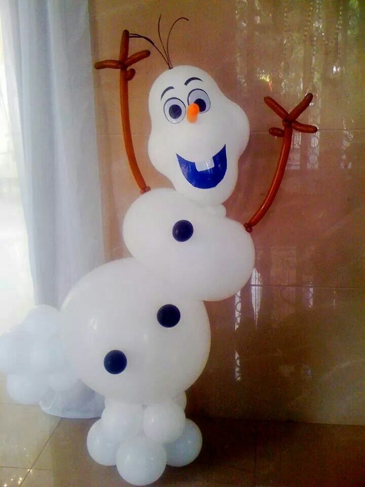 Olaf Balloon Centerpiece : Frozen balloon decorations pinterest birthdays