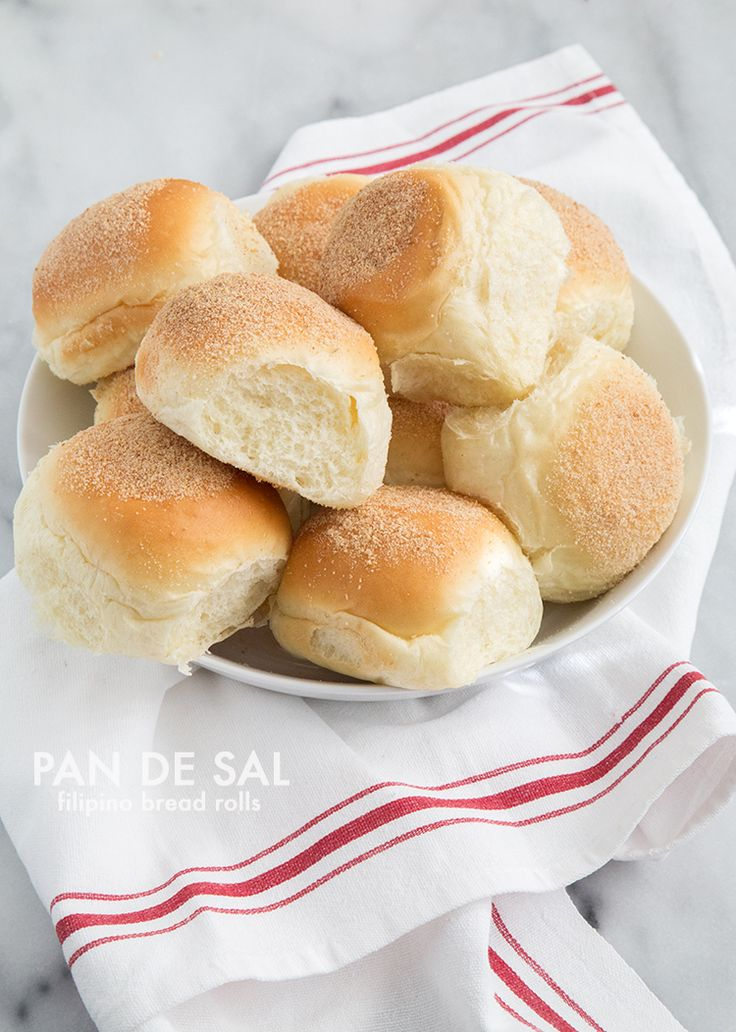 Pandesal (also commonly spelled as pan de sal). Pandesal is the quintessential bread roll of the Philippines.