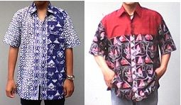 Men's shirt with 2 style stamp batik