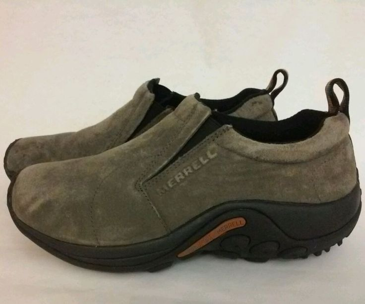 MERRELL Jungle Moc Gunsmoke Men Sz 7.5 Clog Slip On Suede Mens Shoes #Merrell #JungleMoc