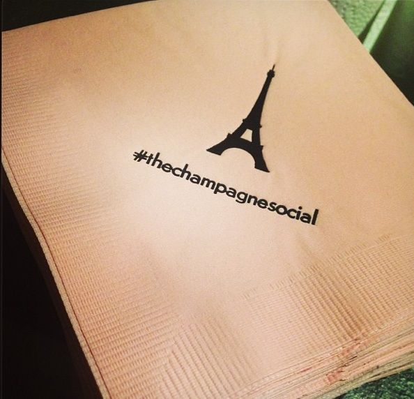 #TheChampagneSocial #Paris #Party #Hashtag serviette