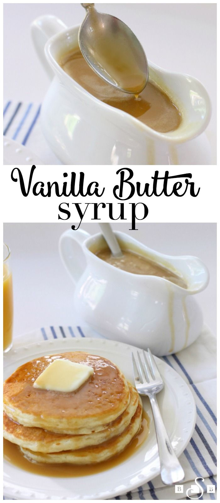 Homemade Vanilla Butter Syrup - making your own syrup is so easy and it tastes SO MUCH BETTER than store bought! Love this recipe from Butter With A Side of Bread